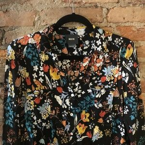 Anthropologie Tops - Maeve Woodland Creatures Top Size 6 Button Up